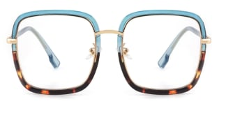 328 shelly Rectangle other glasses