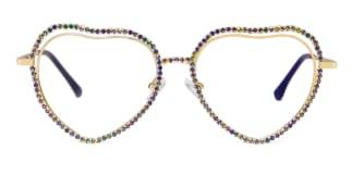 40213 Shania  gold glasses