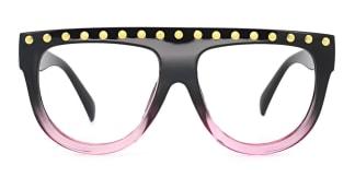 41214 Adrianne Aviator black glasses