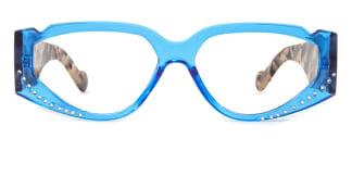 50114 Leontyne Cateye blue glasses