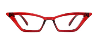 5043-1 Sakura Cateye red glasses