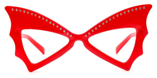 5057 Faithe Butterfly red glasses