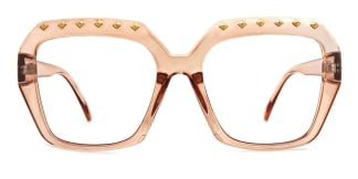 5113 Denice Rectangle brown glasses