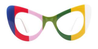 5141 Ruby Cateye multicolor glasses