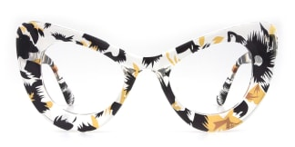 51411 Gina Cateye floral glasses