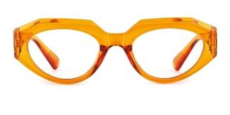 51821 Annabelle Geometric orange glasses