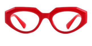 51821 Annabelle Geometric red glasses
