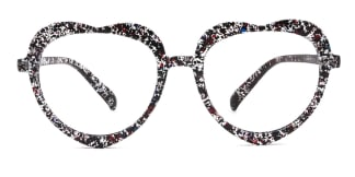 5330 Odella  floral glasses