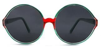 55942 Barbra Round green glasses