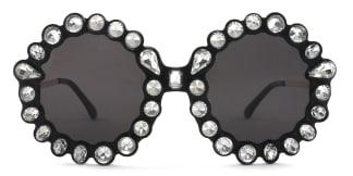 5735 Welss Round black glasses