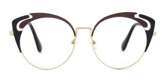 578 Adena Cateye red glasses