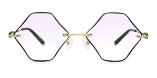 58117 Malcolm Geometric red glasses