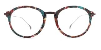 60051 Cristina Round floral glasses