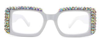 66612 Paisleigh Rectangle white glasses