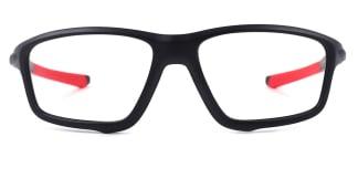 8071 Bruno Rectangle,Aviator red glasses