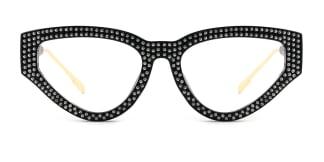 8078 Genevieve Cateye black glasses