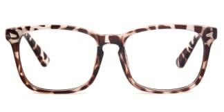 8082-1 Cory Rectangle tortoiseshell glasses