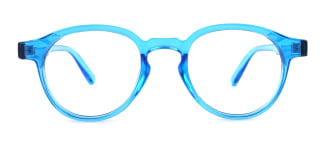 813059 Lily Round blue glasses