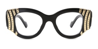 8179 Wilding Geometric black glasses