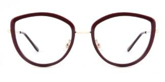 86041 Eileen Cateye red glasses