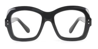 86313 Regina Rectangle black glasses