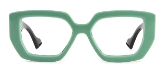 86320 Annabell Geometric green glasses