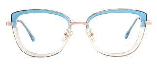 87030 Verna Cateye blue glasses