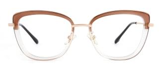 87030 Verna Cateye brown glasses