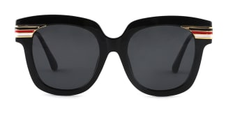 8836 Palms Rectangle black glasses