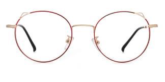 8881 Angil Cateye,Round red glasses