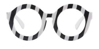 90271 XIMENA Round white glasses