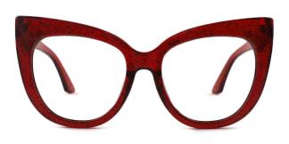 90377 Lola Cateye red glasses