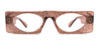 9069 Callie Rectangle brown glasses