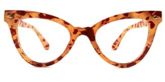 9072 Hayley Cateye yellow glasses