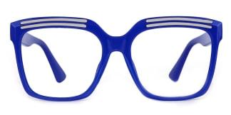 90851 Lillian Rectangle blue glasses