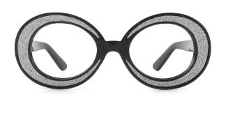 91270 DAPHNE Oval black glasses