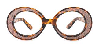 91270 DAPHNE Oval tortoiseshell glasses