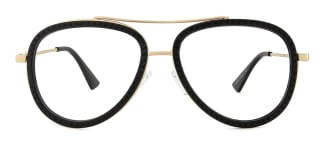 91291 Bjorn Aviator black glasses