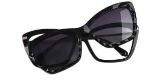 91515 Chandra Cateye black glasses