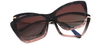 91515 Chandra Cateye red glasses