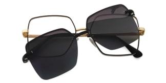 91915 Delphia Rectangle black glasses