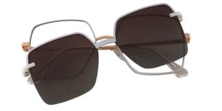 91915 Delphia Rectangle white glasses