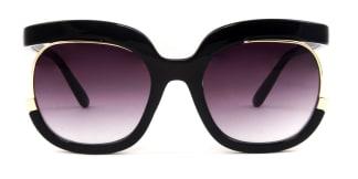 92104 Kim Oval black glasses
