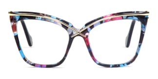 92107 Lacey Cateye floral glasses