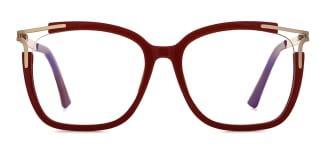 92319 Antonetta Rectangle red glasses