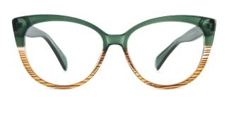 92372 Ami Cateye green glasses