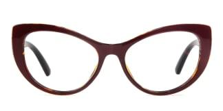 93307 Wadan Cateye red glasses