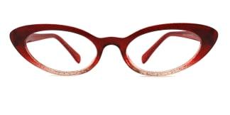 93359 Ida Cateye red glasses