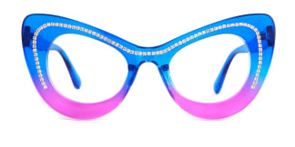944 Deniece Cateye blue glasses