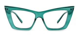 95088 Eboni Cateye green glasses